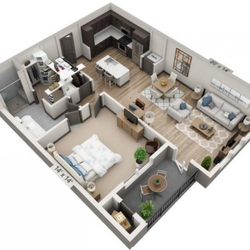 Frio | 1 bed 1 bath | from 932 square feet