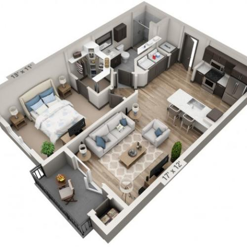 Guadalupe | 1 bed 1 bath | from 725 square feet