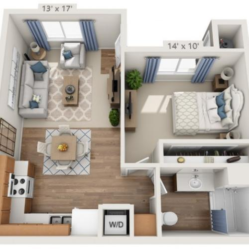 Taylor | 1 bed 1 bath | from 600 square feet