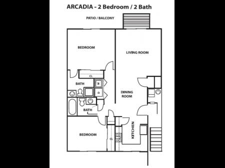 2 Bedroom, 2 Bath - Lower
