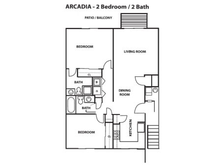 2 Bedroom, 2 Bath - Lower