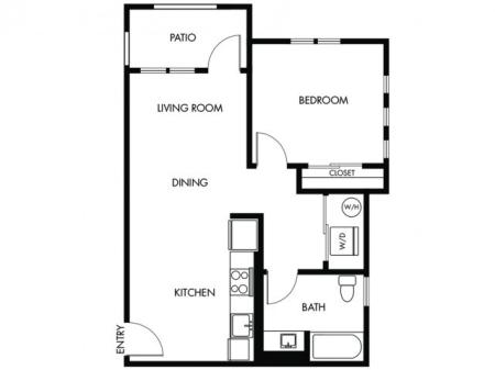 1 Bedroom 1 Bath - A