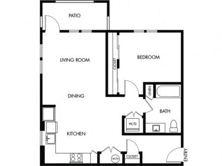 1 Bedroom 1 Bath - C