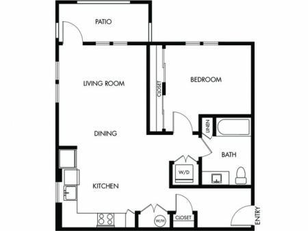 1 Bedroom 1 Bath - C