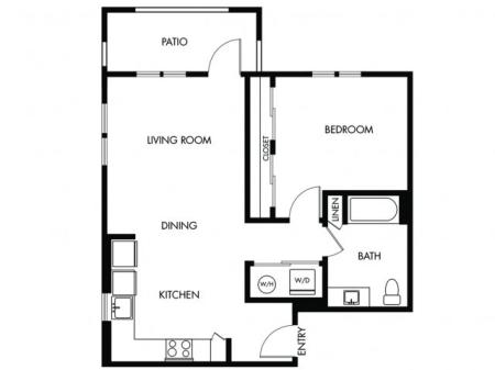 1 Bedroom 1 Bath - D