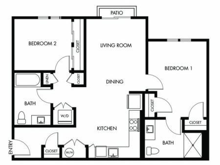 2 Bedroom 2 Bath - F