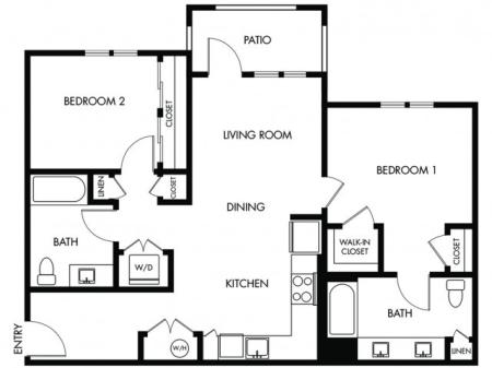 2 Bedroom 2 Bath - G