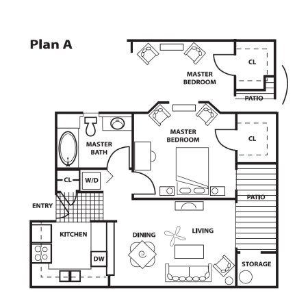 1 Bedroom, 1 Bath - A