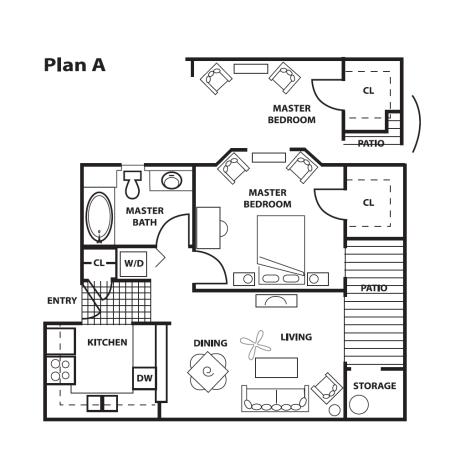 1 Bedroom, 1 Bath - A