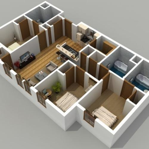 3 To 4 Bedroom Apartments Near Me: 2 Bedroom / 2 Bathroom