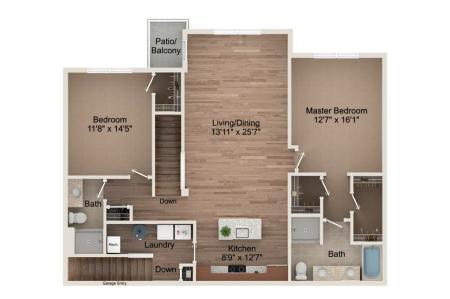 2 Bedroom - Upper