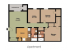 Three Bedroom, Two Bathroom Apartment