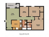 Two Bedroom with a Den, Two Bathroom Apartment