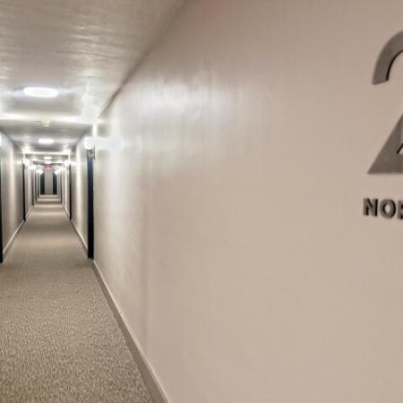 Renovated Hallways  | St. Louis Apartments | Fontainebleau