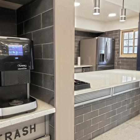 Complimentary Coffee Bar | St. Louis Apartments | Fontainebleau