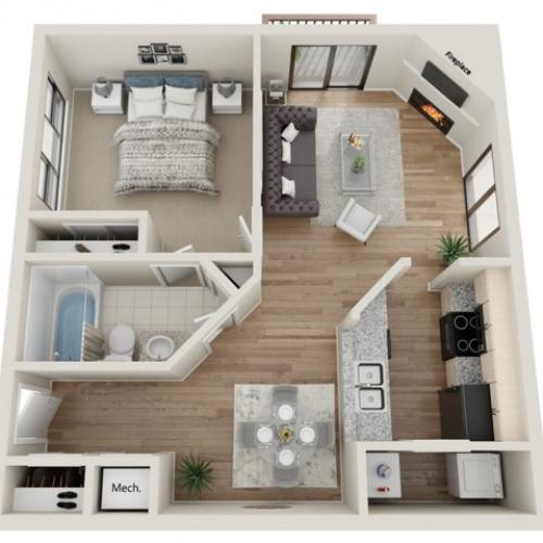 Sundance floorplan | South Summit Apartments