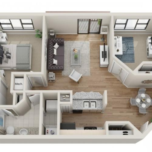 Big Sky floorplan | South Summit Apartments