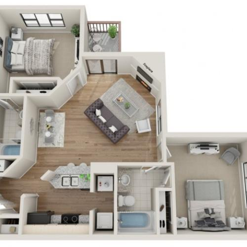 Keystone floorplan | South Summit Apartments