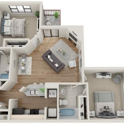 Vail floorplan | South Summit Apartments