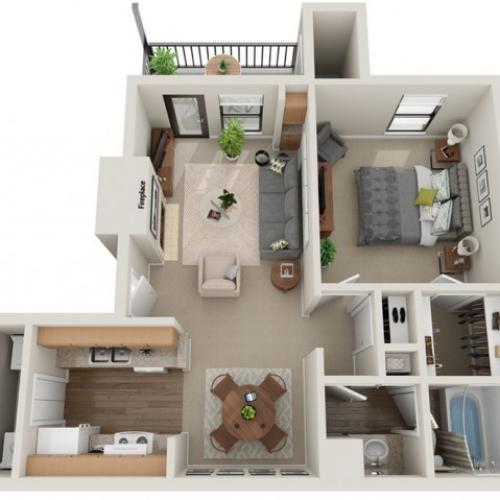 Affirmed Floorplan | Vanderbilt Apartments