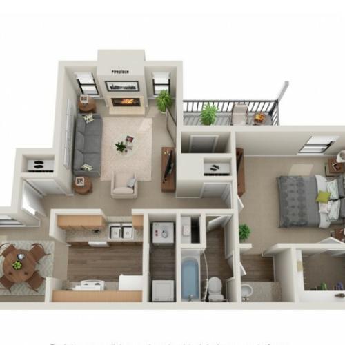 Preakness Floorplan | Vanderbilt Apartments