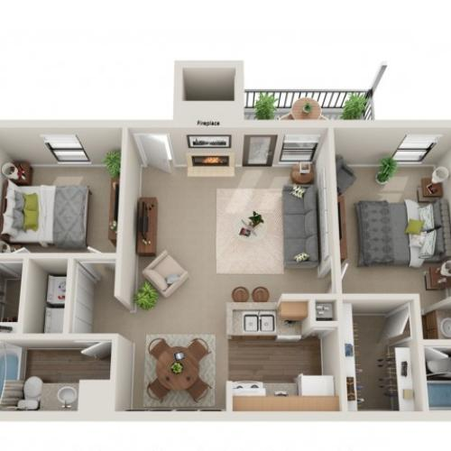 Secretariat Floorplan | Vanderbilt Apartments