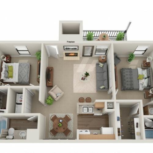 Secretariat Floorplan | Vanderbilt Apartments