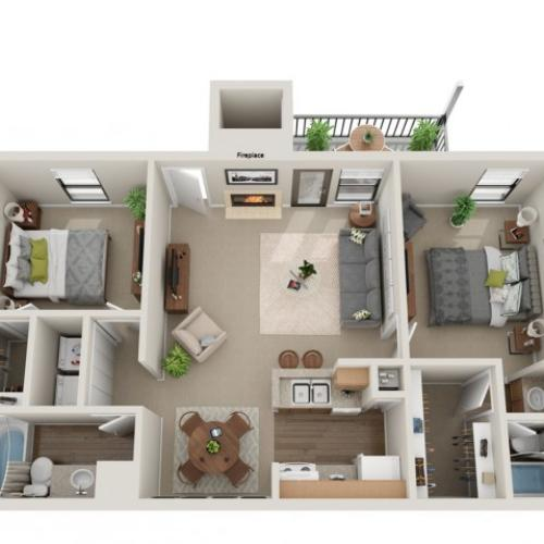 Seabiscuit Floorplan | Vanderbilt Apartments