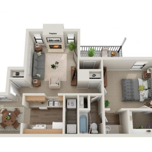 Belmont Floorplan | Vanderbilt Apartments
