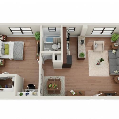 1 Bedroom Floor Plan | Apartments In St Louis | Convent Gardens
