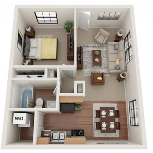 1 Bedroom Floor Plan | Richardson Place | Richardson Place
