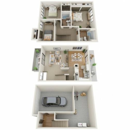 Three Bedroom Townhome | Paddock Village