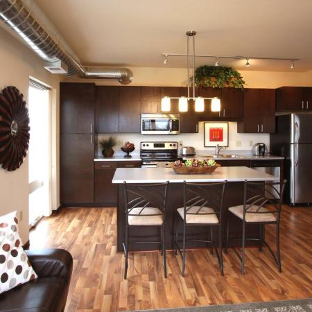 Edge On Oak Apartments Furnished Apartment Kitchen