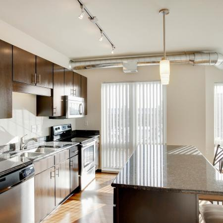 412 Lofts Apartments Furnished Apartment Kitchen