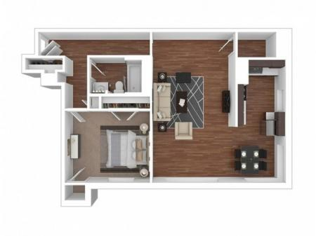 1 Bed, 1 Bath Large