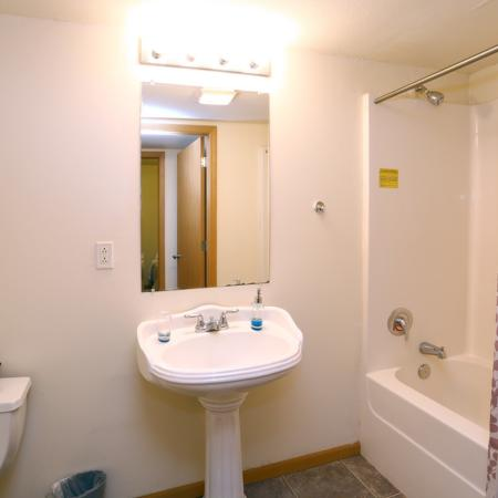 Midtown Lofts Apartments Furnished Apartment Bathroom