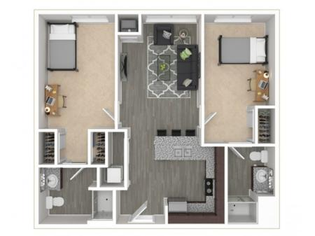2 Bed, 2 Bath Deluxe Private
