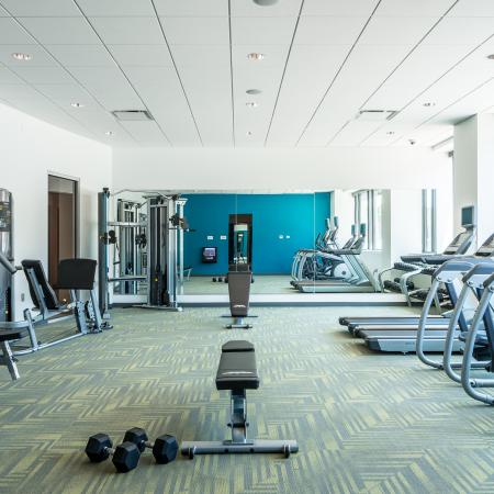24-Hour Fitness Center - District Flats Apartments Lifestyle
