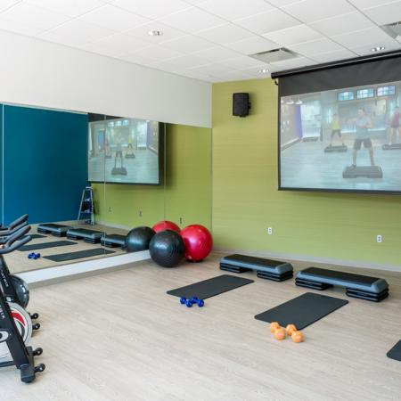 Fitness Center Yoga Room - District Flats Apartments Lifestyle