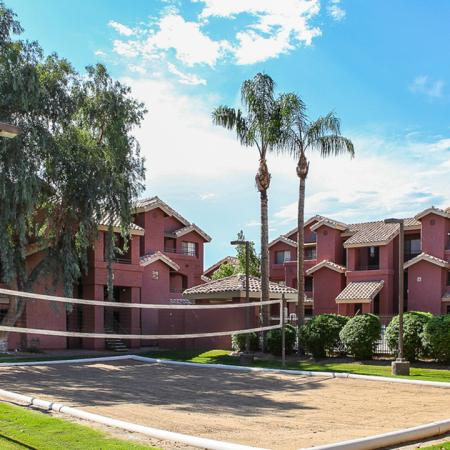 Villas on Apache Apartments Lifestyle - Volleyball Court