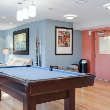 University Club Apartments Lifestyle - Game Room And Pool Table