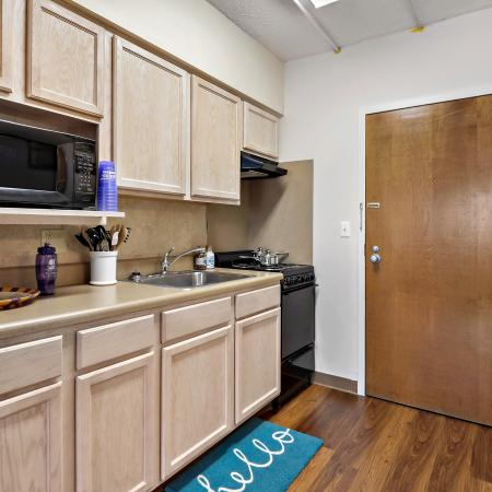 Campus Towers Apartments Furnished Apartment Kitchen