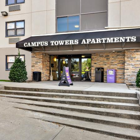 Campus Towers Apartments Greenville Exterior Building View