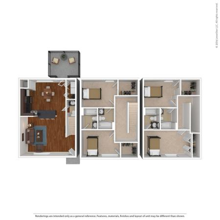 4 Bed, 4.5 Bath Townhome