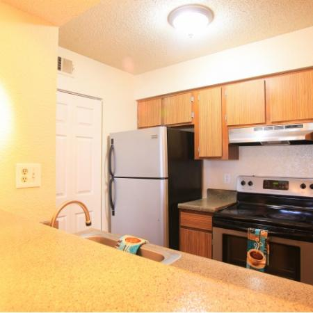 Post Oak Apartments Furnished Apartment Kitchen