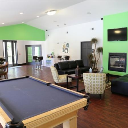 Campus Court at Red Mile Apartments Lifestyle - Clubhouse  Game Room