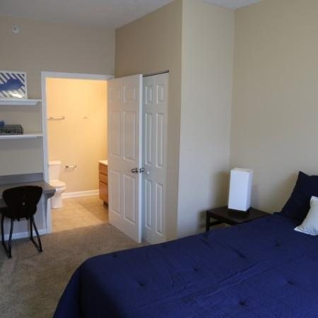 Campus Court at Red Mile Apartments Furnished Apartment Bedroom