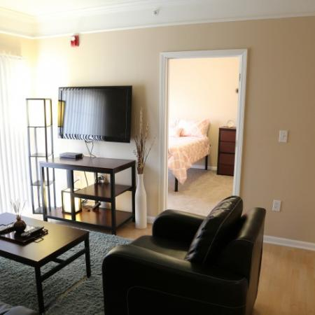 Campus Court at Red Mile Apartments Furnished Apartment Living Room