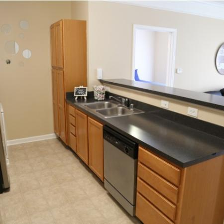 Campus Court at Red Mile Apartments Furnished Apartment Kitchen