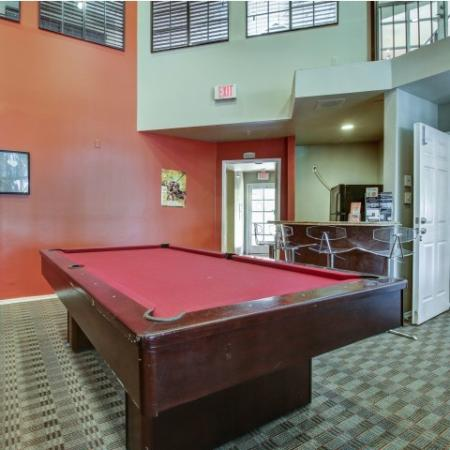 Villas on Apache Apartments Lifestyle - Game Room Pool Table